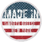 Made In North Greece, New York Round Beach Towel