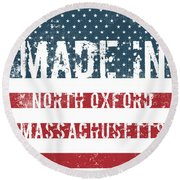 Made In North Oxford, Massachusetts Round Beach Towel