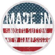 Made In North Sutton, New Hampshire Round Beach Towel
