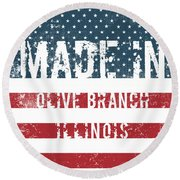 Made In Olive Branch, Illinois Round Beach Towel