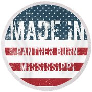 Made In Panther Burn, Mississippi Round Beach Towel
