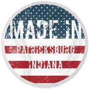 Made In Patricksburg, Indiana Round Beach Towel