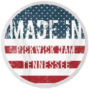 Made In Pickwick Dam, Tennessee Round Beach Towel