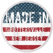 Made In Pottersville, New Jersey Round Beach Towel