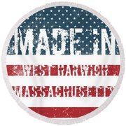 Made In West Harwich, Massachusetts Round Beach Towel