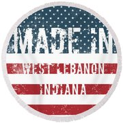 Made In West Lebanon, Indiana Round Beach Towel
