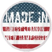 Made In West Lebanon, New Hampshire Round Beach Towel