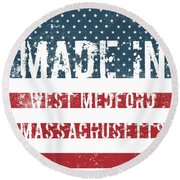 Made In West Medford, Massachusetts Round Beach Towel