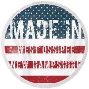 Made In West Ossipee, New Hampshire Round Beach Towel