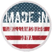 Made In Williamsburg, Iowa Round Beach Towel
