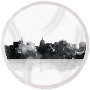 Madison Wisconsin Skyline Round Beach Towel