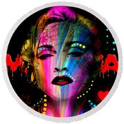 Madonna Round Beach Towel