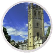 Magdalen Tower Round Beach Towel
