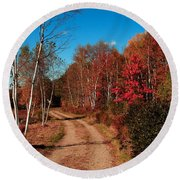 Maine October Round Beach Towel