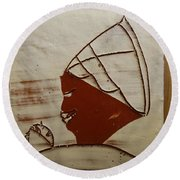 Mama 6 - Tile Round Beach Towel