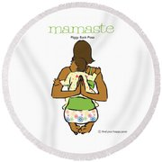 Mamaste 2 Round Beach Towel