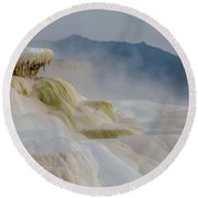Mammoth Beauty Round Beach Towel
