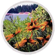 Manitoulin Shores Round Beach Towel