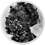 Map Of Germany-black Round Beach Towel