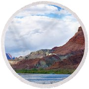 Marble Canyon Round Beach Towel