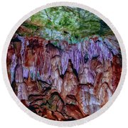 Marble Cave Crimea Round Beach Towel