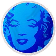 Marilyn Round Beach Towel