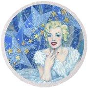 Marilyn Monroe, Old Hollywood Series Round Beach Towel