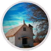 Marsh Berea Church Round Beach Towel
