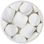 Marshmallows Round Beach Towel