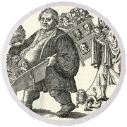 Martin Luther (1483-1546) Round Beach Towel
