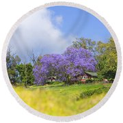 Maui Upcountry Round Beach Towel