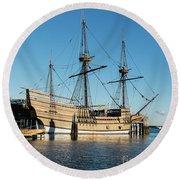Mayflower II  Round Beach Towel