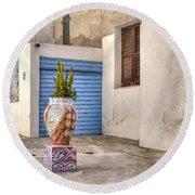 Mazara Del Vallo - Sicily Round Beach Towel