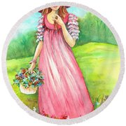 Meadow Maid Round Beach Towel