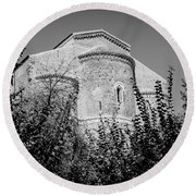 Medieval Abbey - Fossacesia - Italy 6 Round Beach Towel