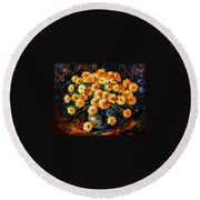 Melody Of Beauty Round Beach Towel