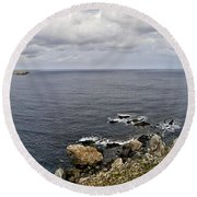 Menorca North Shore From Mongofre Round Beach Towel