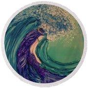 Mermaid Wave Round Beach Towel
