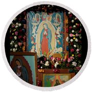 Mexico Our Lady Of Guadalupe Pilgrimage Round Beach Towel