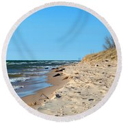 Michigan Beach Round Beach Towel