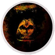 Mighty Gorilla Round Beach Towel