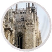 Milan Cathedra, Domm De Milan Is The Cathedral Church, Italy Round Beach Towel