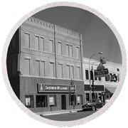 Miles City, Montana - Downtown 2 Bw Round Beach Towel