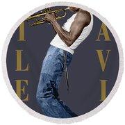 Miles Davis Round Beach Towel