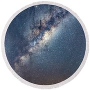 Milky Way And Mars Round Beach Towel