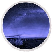 Milky Way Heaven Round Beach Towel