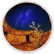 Milky Way Round Beach Towel by Okan YILMAZ