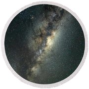 Milky Way With Mars Round Beach Towel