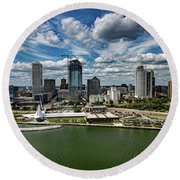 Milwaukee Wisconsin Round Beach Towel