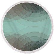 Mineral Semi Circle Background Horizontal Round Beach Towel